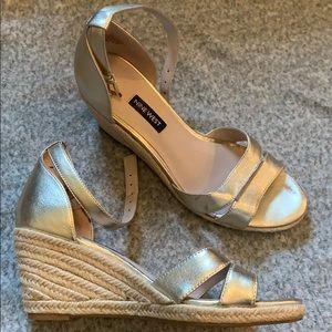 NINE WEST jabrina espadrille wedge sandal, size: 8